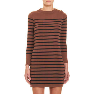 Armor Lux Brown Striped Knit Dress